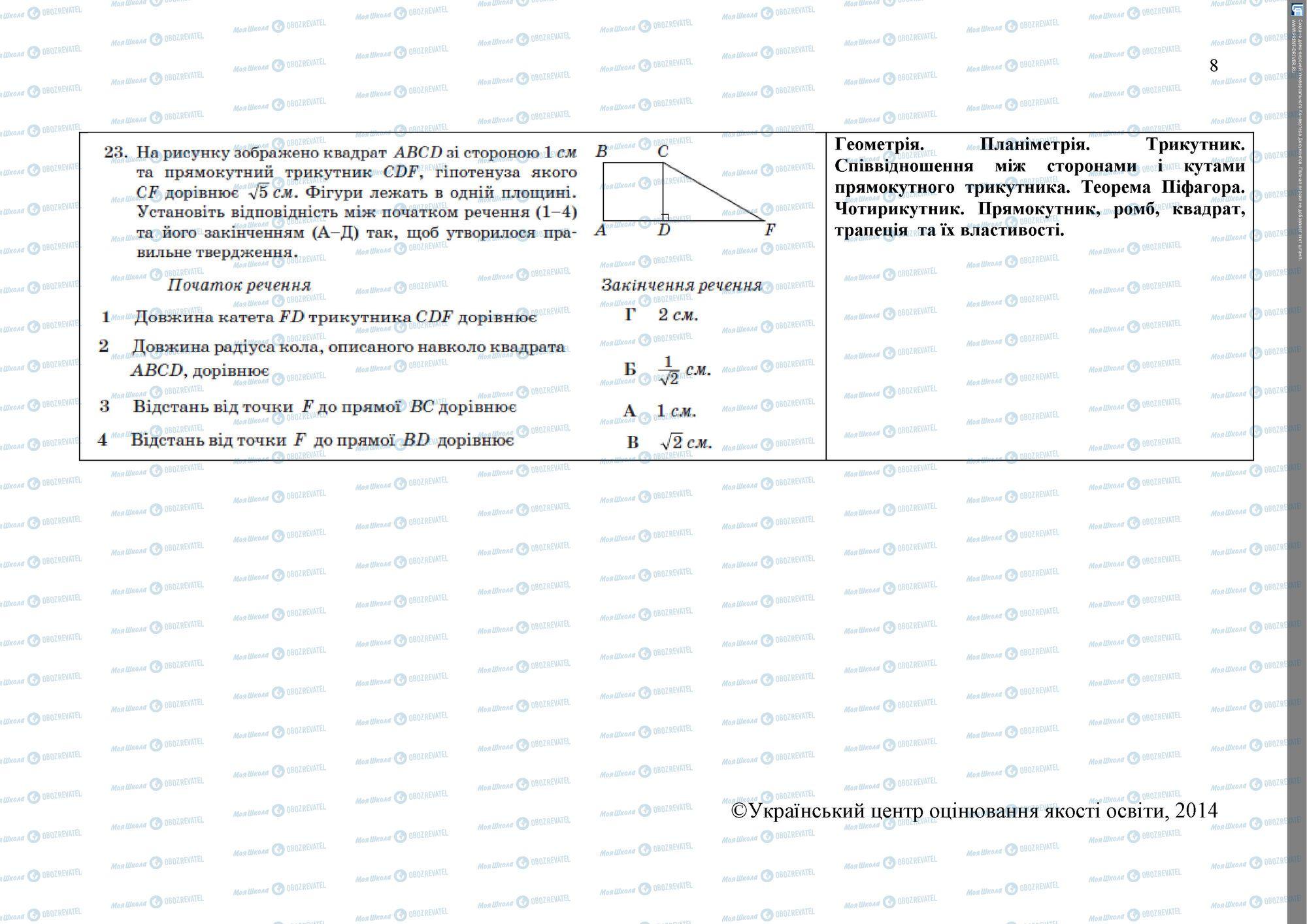 ЗНО Математика 11 класс страница 8