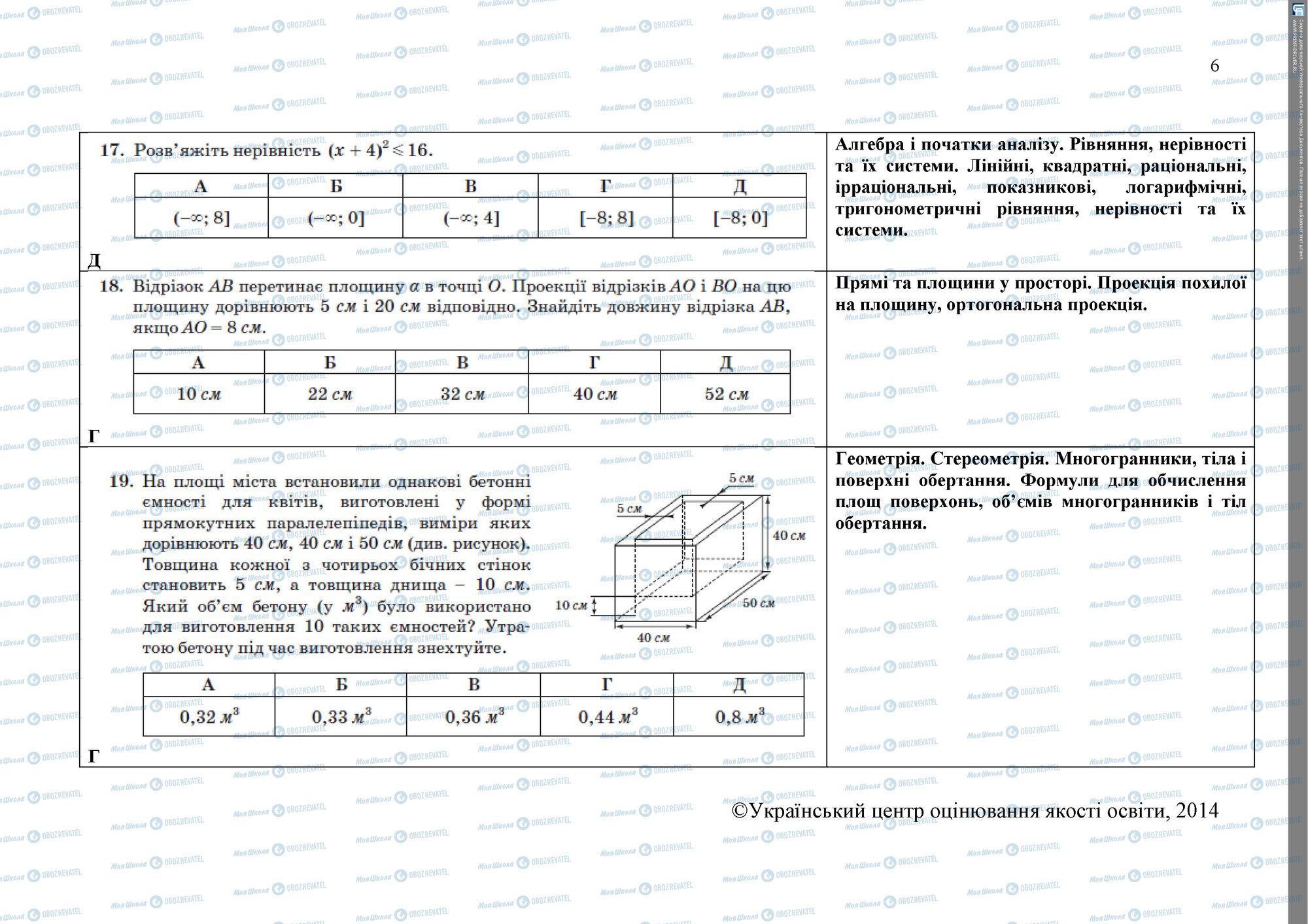 ЗНО Математика 11 класс страница 6