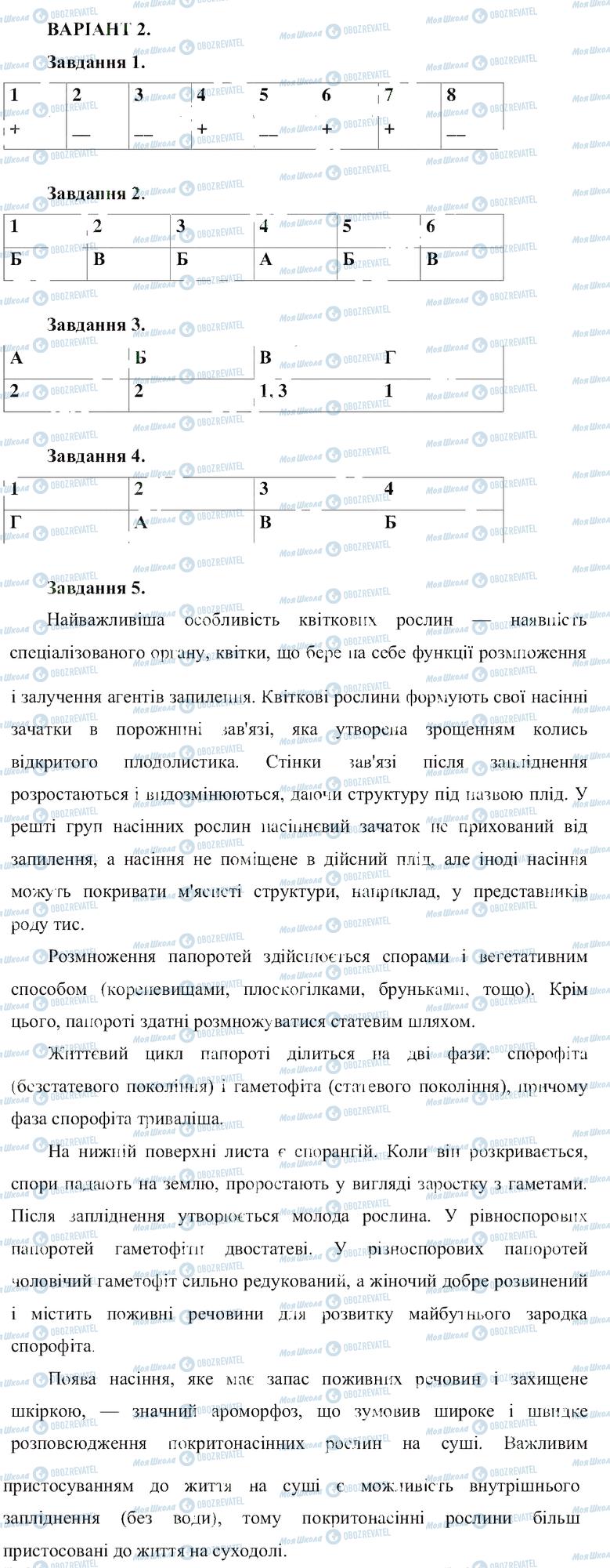ГДЗ Біологія 6 клас сторінка B2