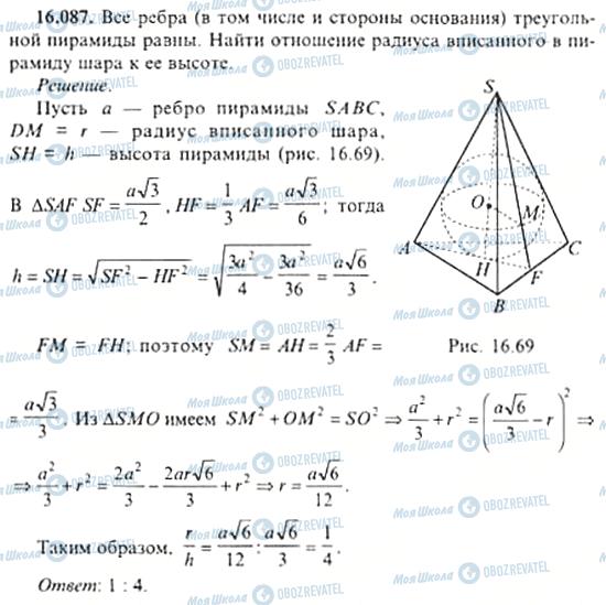 ГДЗ Алгебра 11 клас сторінка 16.087