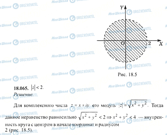 ГДЗ Алгебра 11 клас сторінка 18.065