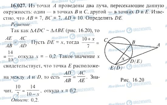 ГДЗ Алгебра 11 класс страница 16.027