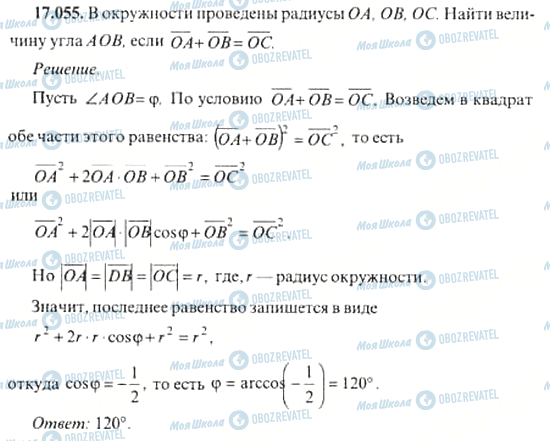 ГДЗ Алгебра 11 класс страница 17.055