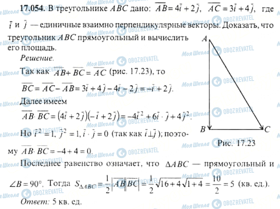 ГДЗ Алгебра 11 клас сторінка 17.054