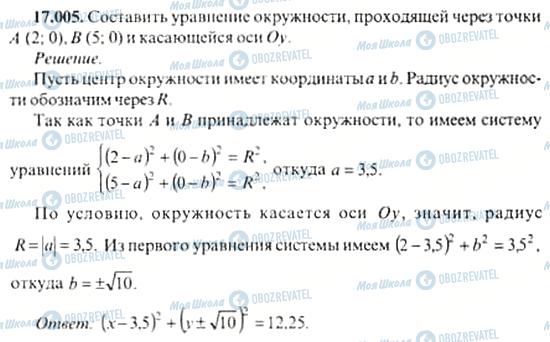 ГДЗ Алгебра 11 класс страница 17.005