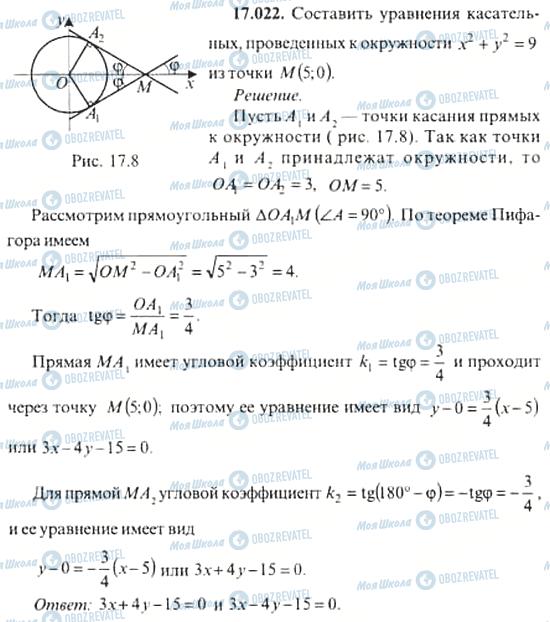 ГДЗ Алгебра 11 клас сторінка 17.022