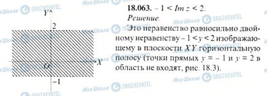 ГДЗ Алгебра 11 клас сторінка 18.063