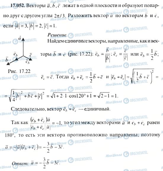 ГДЗ Алгебра 11 клас сторінка 17.052