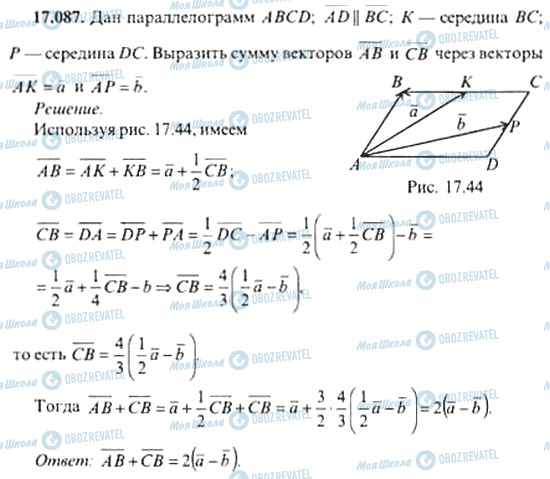 ГДЗ Алгебра 11 клас сторінка 17.087