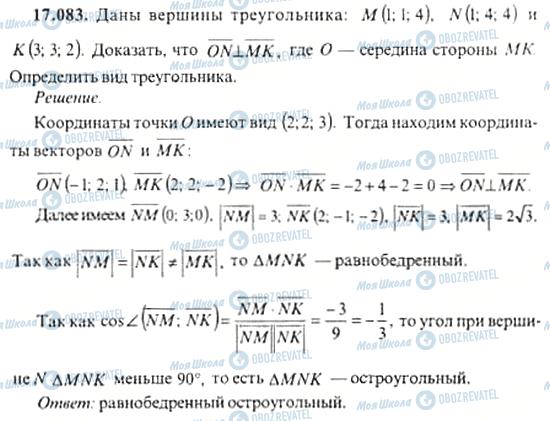 ГДЗ Алгебра 11 клас сторінка 17.083