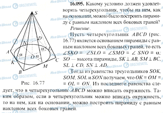 ГДЗ Алгебра 11 клас сторінка 16.095