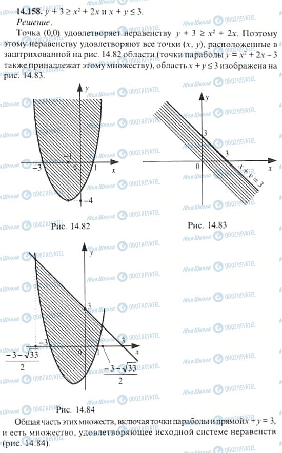 ГДЗ Алгебра 11 клас сторінка 14.158
