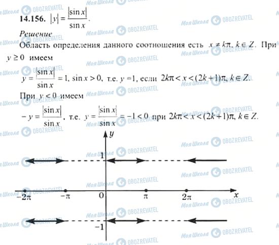 ГДЗ Алгебра 11 клас сторінка 14.156