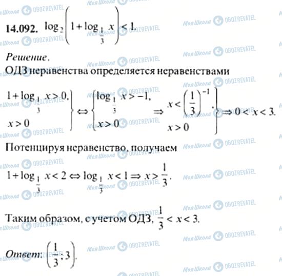 ГДЗ Алгебра 11 клас сторінка 14.092