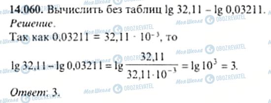 ГДЗ Алгебра 11 клас сторінка 14.060