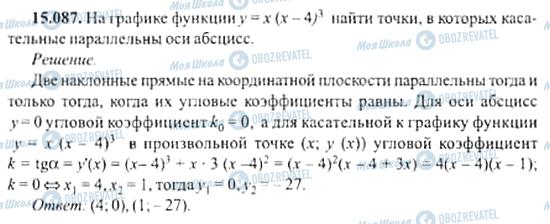 ГДЗ Алгебра 11 клас сторінка 15.087