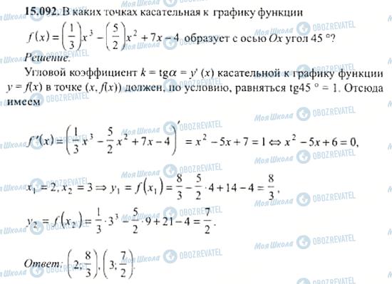 ГДЗ Алгебра 11 клас сторінка 15.092