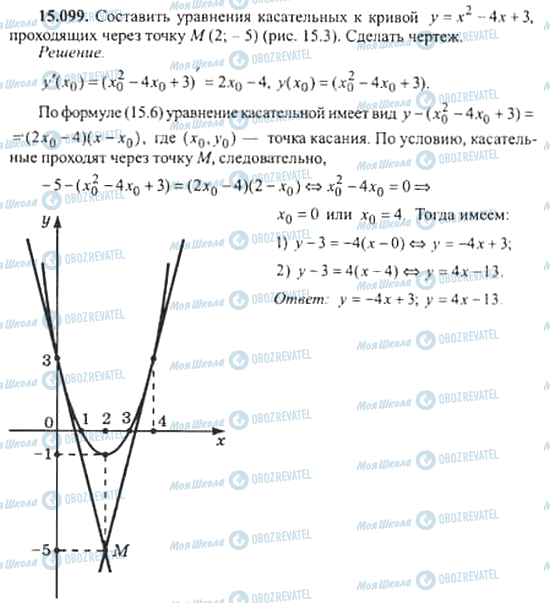 ГДЗ Алгебра 11 клас сторінка 15.099