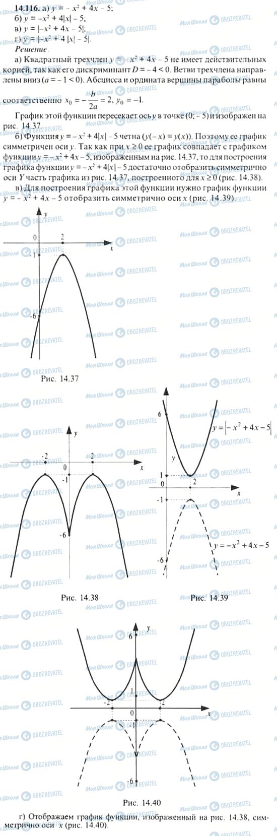 ГДЗ Алгебра 11 клас сторінка 14.116