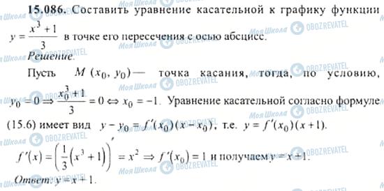 ГДЗ Алгебра 11 класс страница 15.086