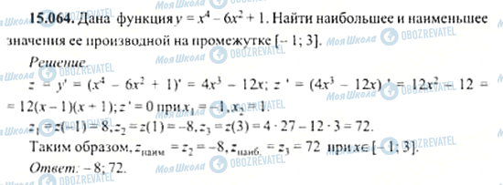 ГДЗ Алгебра 11 клас сторінка 15.064