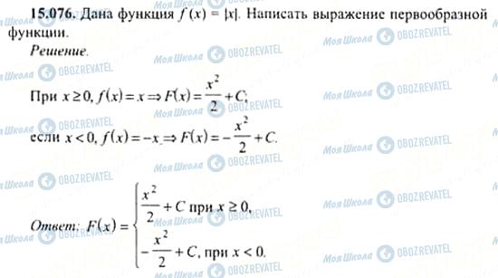ГДЗ Алгебра 11 класс страница 15.076