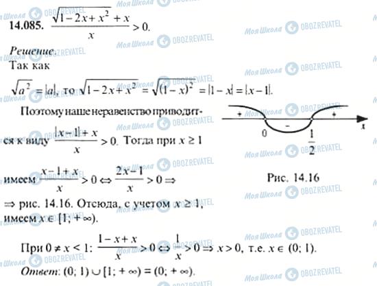ГДЗ Алгебра 11 класс страница 14.085