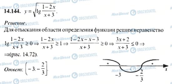 ГДЗ Алгебра 11 клас сторінка 14.144