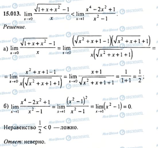 ГДЗ Алгебра 11 клас сторінка 15.013