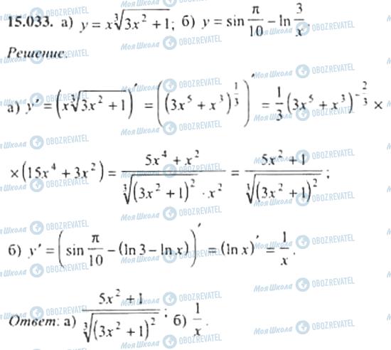 ГДЗ Алгебра 11 клас сторінка 15.033