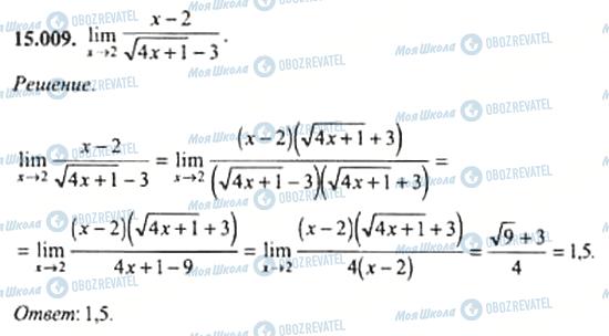 ГДЗ Алгебра 11 класс страница 15.009