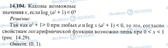 ГДЗ Алгебра 11 клас сторінка 14.104