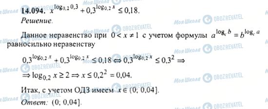 ГДЗ Алгебра 11 клас сторінка 14.094