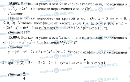 ГДЗ Алгебра 11 клас сторінка 15.093