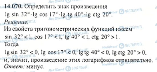 ГДЗ Алгебра 11 клас сторінка 14.070