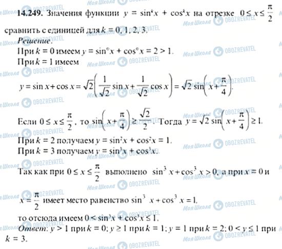 ГДЗ Алгебра 11 клас сторінка 14.249