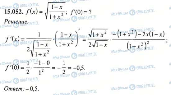 ГДЗ Алгебра 11 клас сторінка 15.052