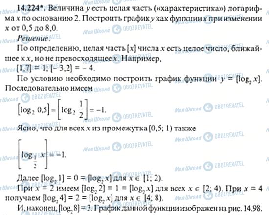 ГДЗ Алгебра 11 класс страница 14.224