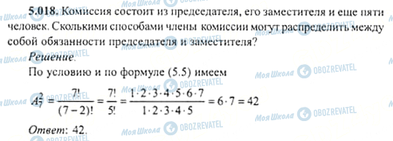 ГДЗ Алгебра 11 клас сторінка 5.018