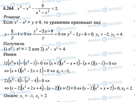 ГДЗ Алгебра 11 класс страница 6.264