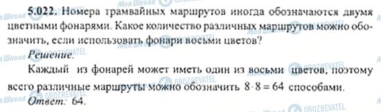 ГДЗ Алгебра 11 клас сторінка 5.022