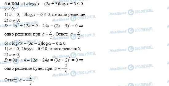 ГДЗ Алгебра 11 класс страница 6.6.D04