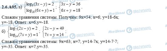 ГДЗ Алгебра 11 класс страница 2.6.A05