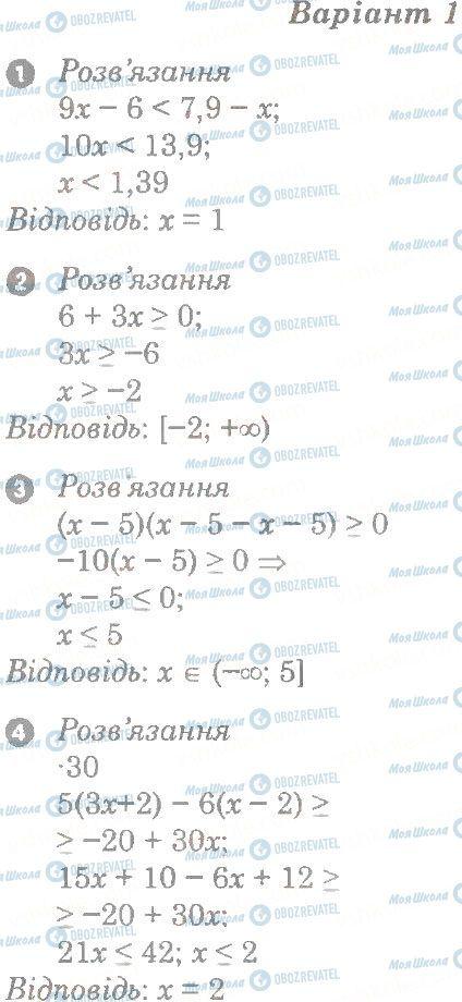ГДЗ Алгебра 9 класс страница в1