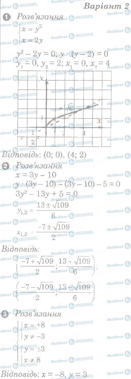 ГДЗ Алгебра 9 класс страница в2