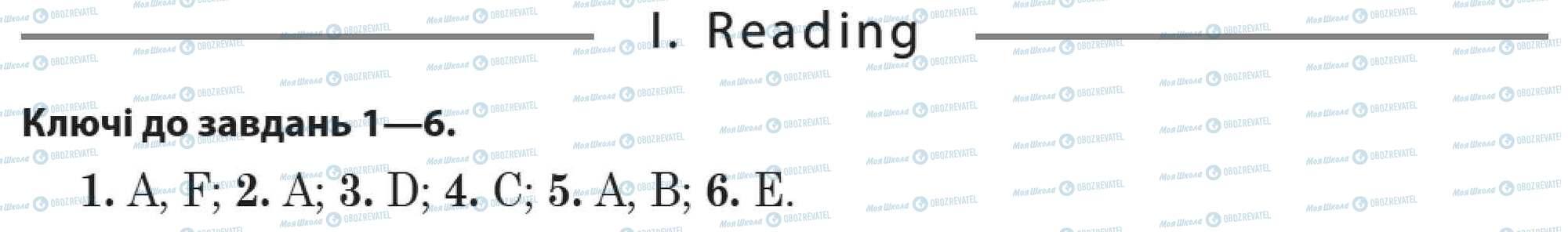 ДПА Англійська мова 11 клас сторінка 1. Reading