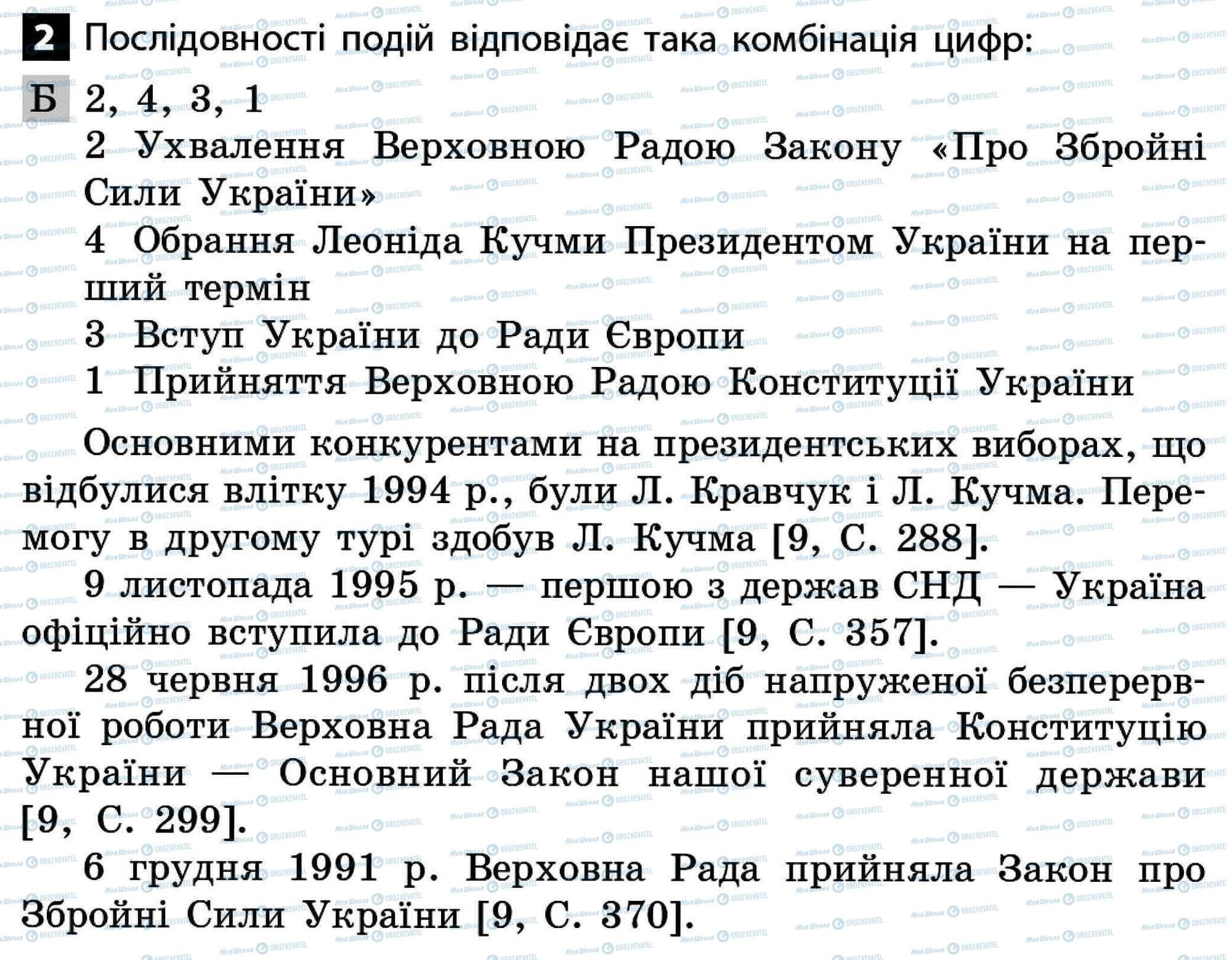 ДПА Історія України 11 клас сторінка 2