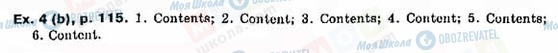 ГДЗ Английский язык 9 класс страница Ex.-4(b),-p.115