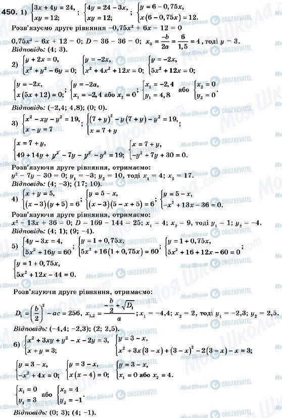 ГДЗ Алгебра 9 класс страница 450