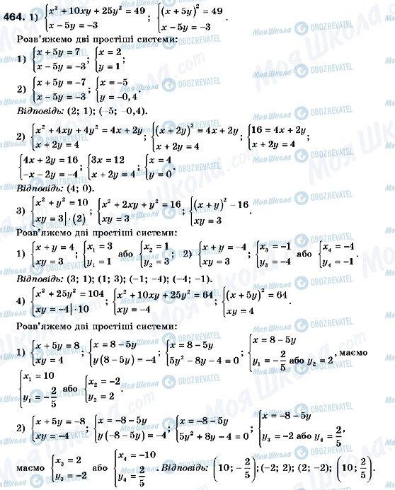 ГДЗ Алгебра 9 класс страница 464